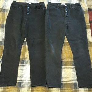 2 pair of No Boundaries size 15 pants